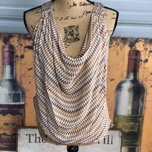 Haute Hippie Silk tank top multi color blouse xs